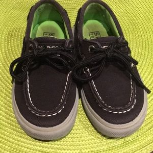 Sperry Top-Sider size 71/2  black green inside
